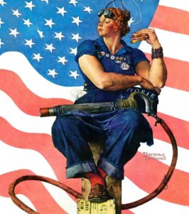 'Rosie The Riveter' by Norman Rockwell, 1942