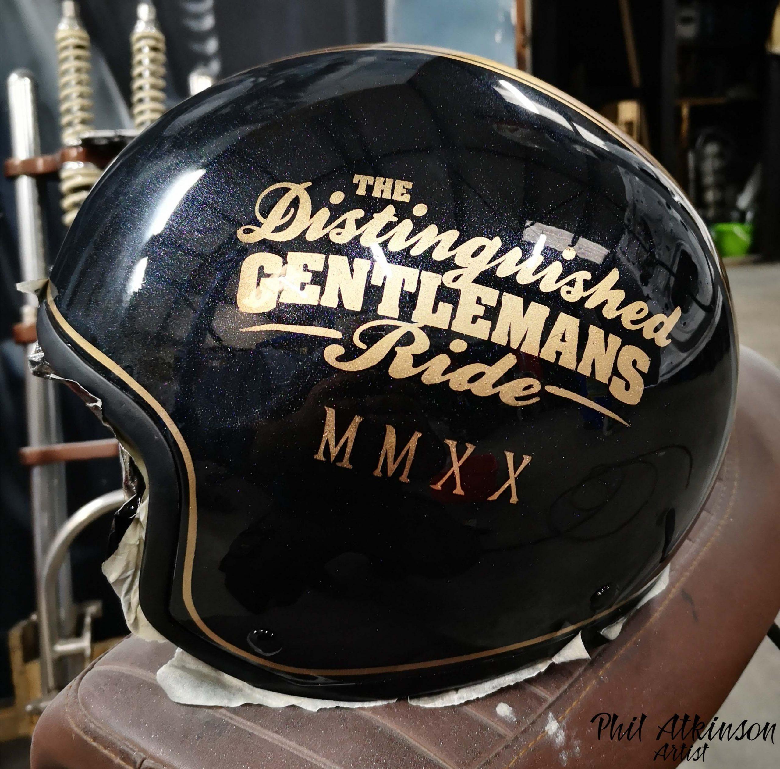 The Distinguished Gentleman Ride Helmet by Phil Atkinson Artist